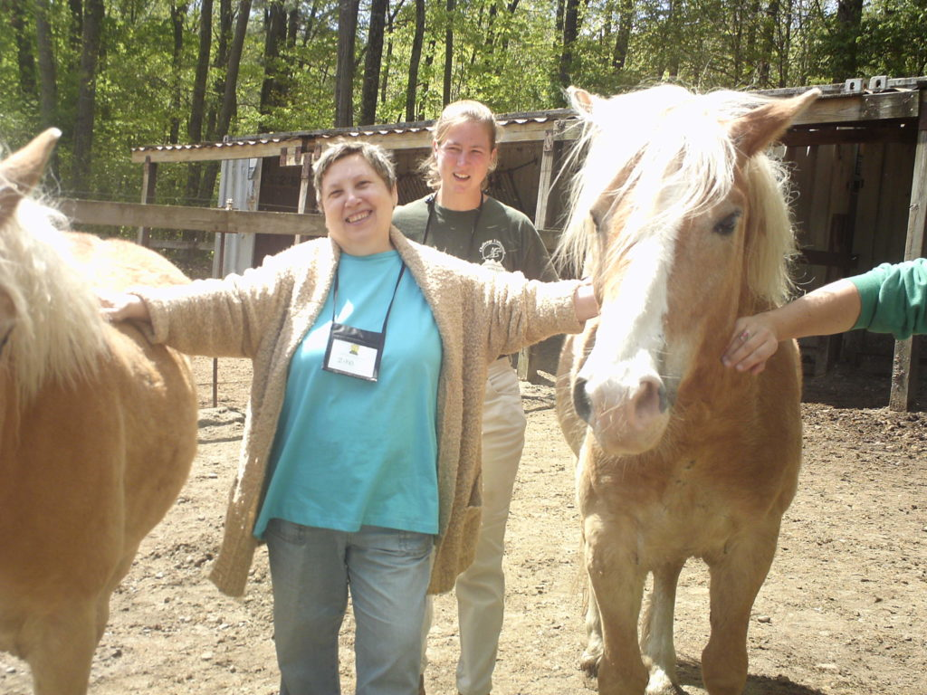 Participants in the Ironstone Farm Equine Encounter Retreat.