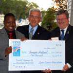 2010 David J. Solimine Sr. Honorary Scholarship Awardee Sengin Holland receiving his award